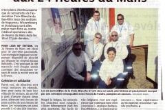 Six secouristes aux 24 heures du mans